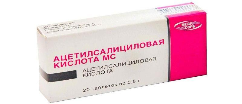 Таблетки Ацетилсалициловой кислоты