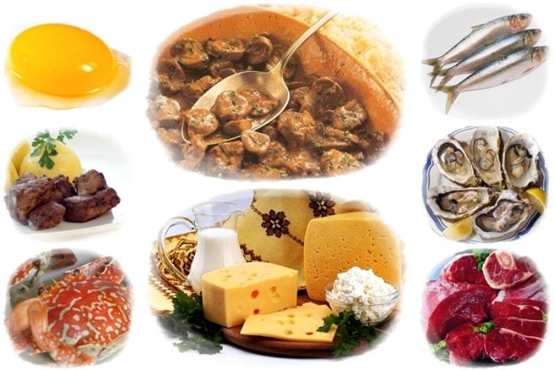 Продукты с содержанием витамина В12