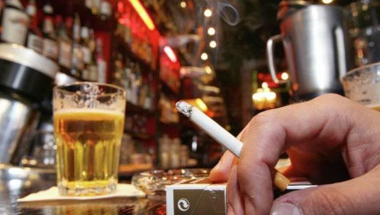 Сигарета и пиво