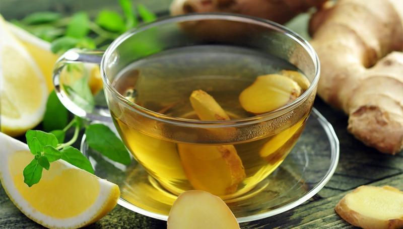 Зелёный чай с имбирём