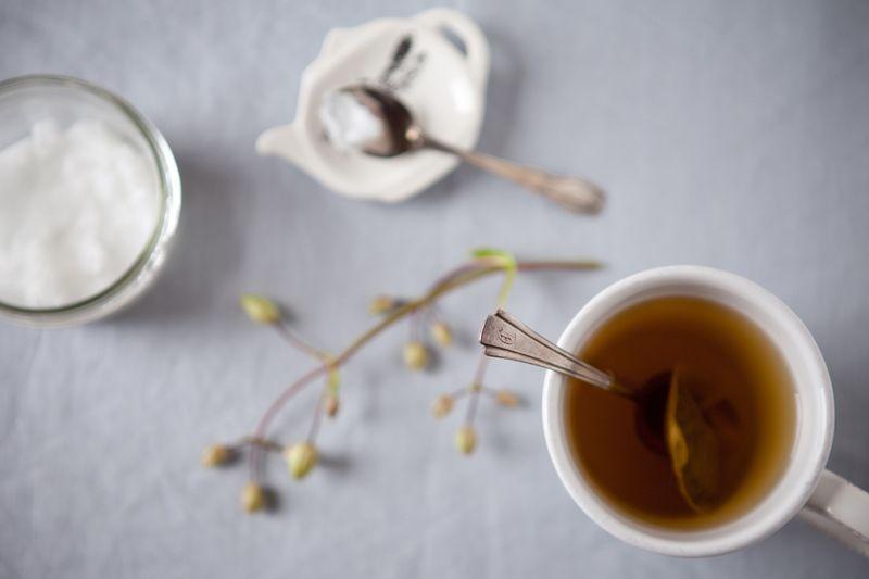 Чай с кокосовым маслом