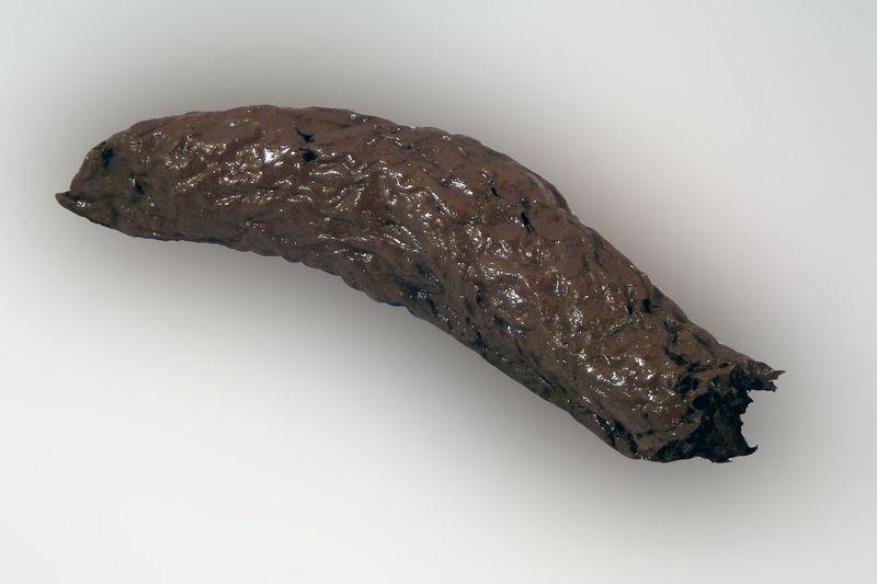 Кал чёрного цвета