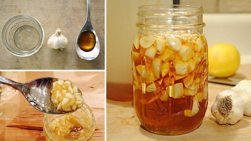 Сироп из чеснока и мёда